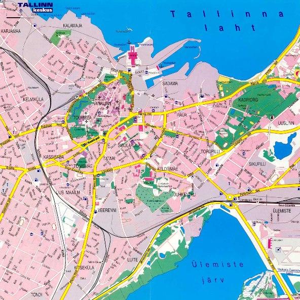 Map of Tallinn