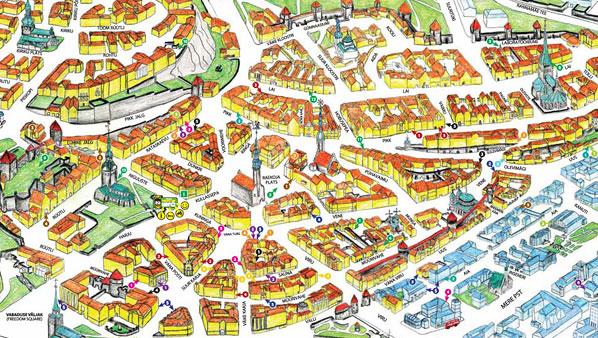 Map of Tallinn old town
