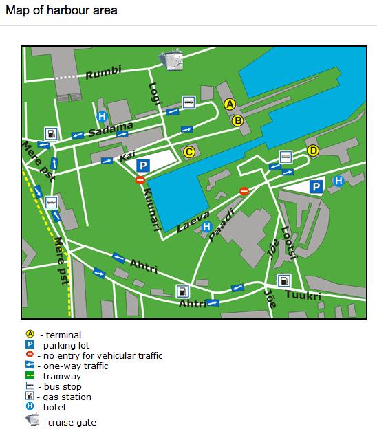 Map of Tallinn Harbour - Port of Tallinn