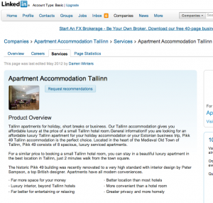 Apatment Accommodation Tallinn Linked In